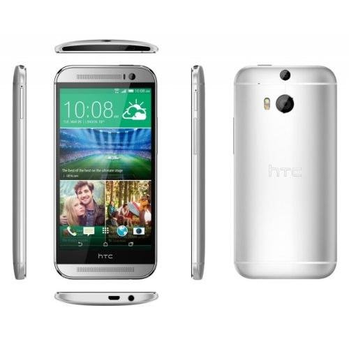 Htc One M8 32Gb Smartphone At T Wireless 4G Lte For All Gsm Carriers   Glacial Silver