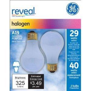 Ge Reveal Halogen Bulb White 29 W 325 Lumens A19 Med Base 2 Pack A19 Med Base