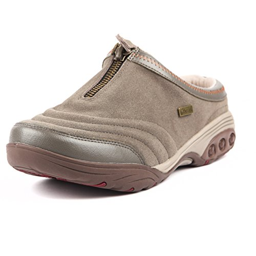 Therafit Dallas Women's Suede Clog Slip On Shoe - for Plantar Fasciitis/Foot Pain Olive