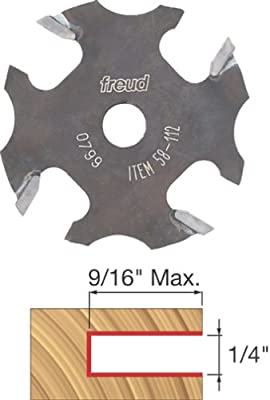 Freud 58-112 1/4-Inch 4-Wing Slot Cutter for 5/16 Router Arbor