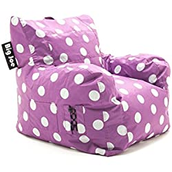 BeanSack Big Joe Pink with White Dots Dorm Bean Bag Chair