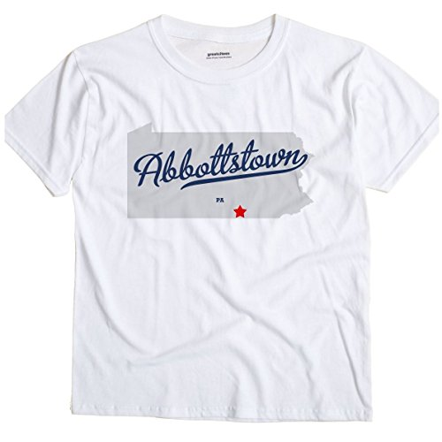 Abbottstown Pennsylvania PA MAP GreatCitees Unisex Souvenir T Shirt