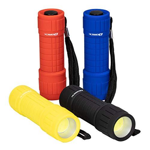 4pk Dorcy 100 Lumen COB LED Flashlight, Bright & Durable (Dorcy Led Aluminum Flashlight)