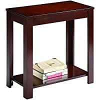 New Home Deal Wooden Side Chair End Table (24 x 12, Espresso)