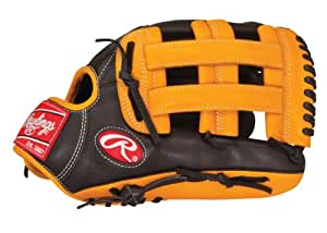 Rawlings Gold Glove Gamer XP Baseball Glove (Black/Orange), Right Hand, 12.75-Inch