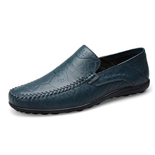 para Ligera Mocasines de E y Cuero Zapatos Caminar conducción Formales Zapatos Ons Otoño Comfort Perezosos de Zapatos Hombres Zapatos Slip para Primavera Suela Zapatos YaXuan qn8pgwOfg