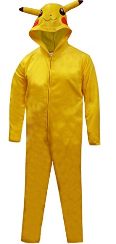 Pokemon Pikachu Big Boys Hooded Blanket Sleeper Pajama (L (10/12))