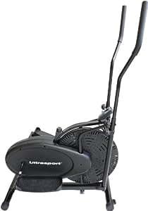 Ultrasport X-Trainer 100 - Bicicleta elíptica Basic con consola y regulador de resistencia, certificación TÜV / GS