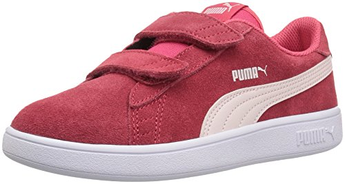 - PUMA Smash v2 Suede Preschool Sneakers (Paradise Pink/Pearl)(7 M US Toddler)