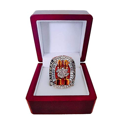 Gloral HIF 2018 Clemson Tigers Championship Rings Clemson University Championship Rings College National Championship Ring with Wooden Display Box