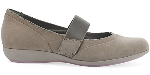 Dansko Women's, Kendra Low Heel Wedge Shoes Taupe Milled Nubuck