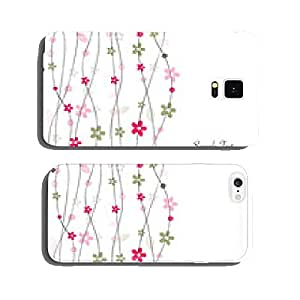 Colorful floral greeting card with simple flowers cell phone cover case iPhone5