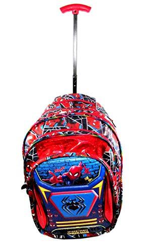 ehuntz Polyester Spiderman 5D Embossed Waterproof School Bag  Blue, 6 15 Years