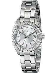 Caravelle New York Womens 43M108 Analog Display Analog Quartz White Watch