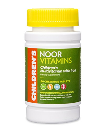 NoorVitamins Children's Chewable Multivitamins with Iron – 60 Chewable Tablets – Halal Vitamins Review
