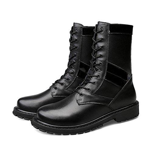 Stivali da uomo in pizzo impermeabile classico casual invernale , 39 , black 38