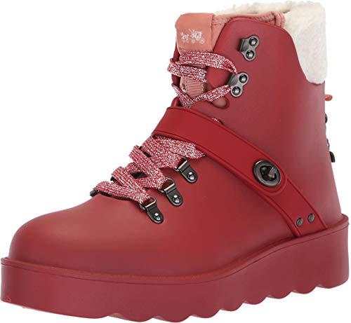Coach Women's Urban Hiker Rain Boot Red Rubber 7 M US M ()