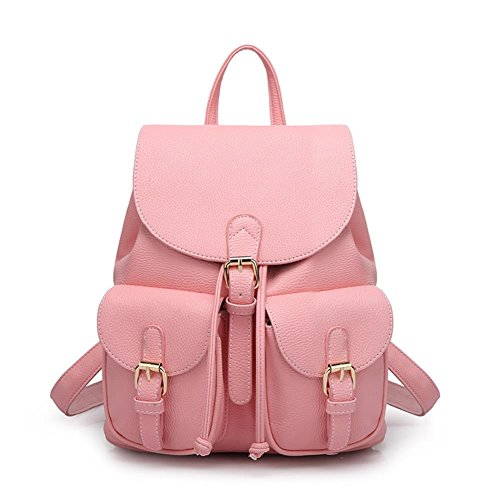 b787c8f8f0 Vere Gloria Girls Drawstring Leather Double Shoulder Backpacks