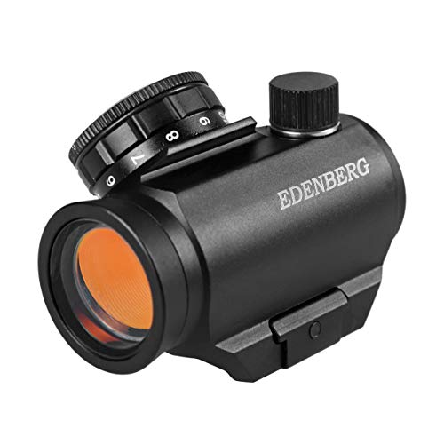 Edenberg ED-25 Red Dot Sight,1x25mm,Rifle Scope for Hunting and Tactical Shooting 100% Waterproof Fogproof Shockproof Construction with One Battery (Best Affordable Ar 15 Red Dot)