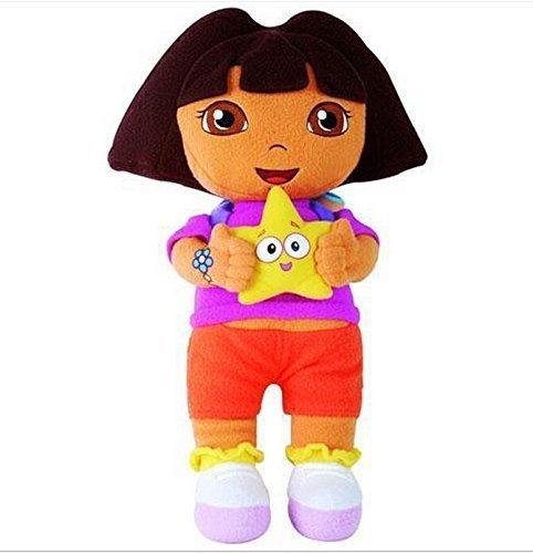 Dora the Explorer Boots Monkey Swiper Fox Dora 9-10 Inch Toddler Stuffed Plush Kids Toys 3 Pcs/set by kidsheaven (Toy Box Dora)