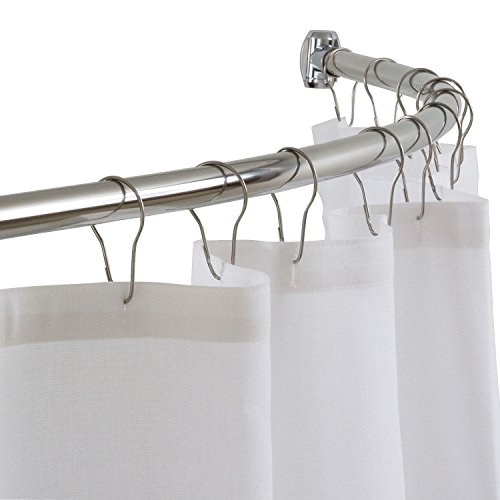 (DIAMOND USA Curved Shower Curtain Rod, 54