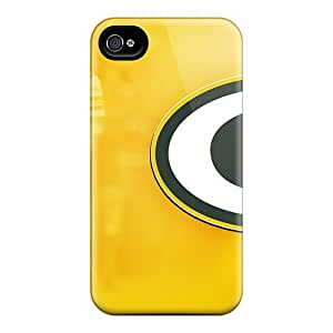 Elaney Perfect Tpu Case For Iphone 4/4s/ Anti-scratch Protector Case (green Bay Packers) by icecream design