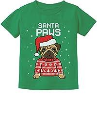 TeeStars - Santa Paws Pug Ugly Christmas Sweater Dog Toddler/Infant Kids T-Shirt