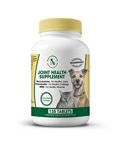 Best Natural Hip & Joint Supplement for Dogs & Cats. Glucosamine Chondroitin MSM for Healthy Bones & Cartilage. Relieves Pain & Inflammation. Supports Nerve & Muscle Function. 135 Chewable Treats