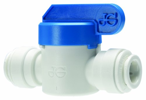 - John Guest PPSV040808WP Single Straight Shut-Off Valve, 1/4