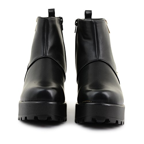 Footwear Sensation - Botas para mujer - Black Zip Up