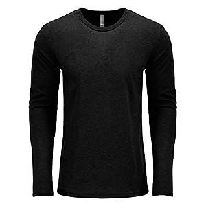 Next Level Men's Performance Blended Long Sleeve Jersey, Large, Vintage Black