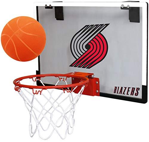 online retailer 14db4 211e3 NBA Portland Trailblazers Game On Indoor Basketball Hoop   Ball Set