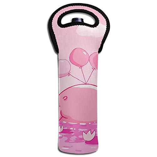 YYH Single Wine Tote Bag,Insulated Padded Thermal Wine Bottle Carrying Cooler Carrier for Travel,Cute-black-and-pink-wallpaper-9-cool-hd-wallpaper