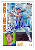 Spike Owen autographed Baseball Card (Seattle Mariners) 1984 Topps #413 (67)