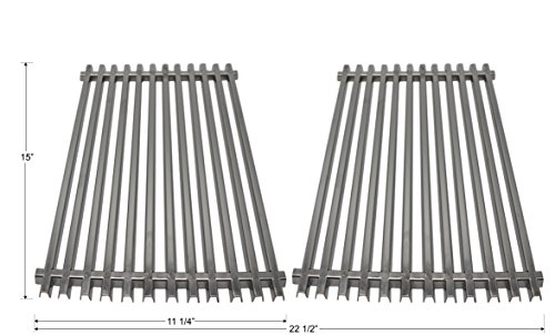 nless Steel Cooking Grates (2-Pack) for Weber Spirit 200 Series (Does Not for Front-Mounted Control Panel), Spirit 500, Genesis Silver A ()