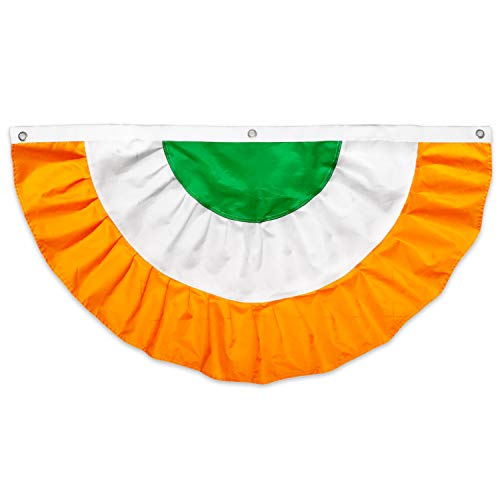 BREEZIUM St. Patricks Day Bunting | Irish Party Decor w/Sewn Colors | 210 Nylon for Indoor or Outdoor Use | Ireland Decoration for House | Classic, Vibrant Ireland Flag for St. Pattys Day