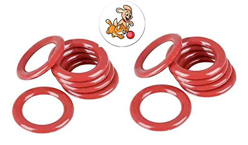 24 Plastic Toss Rings for Carnival Games and One Puppy and Kitten Button
