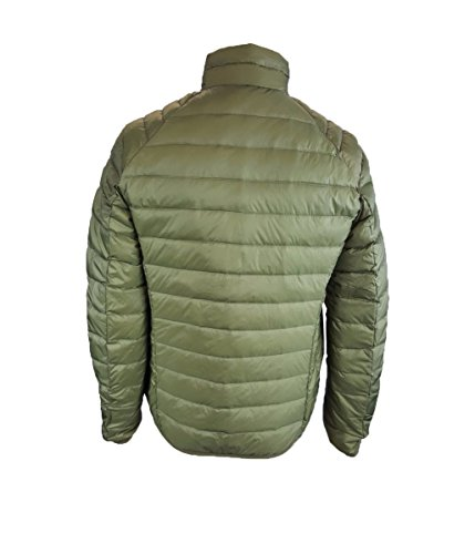 Feather Skin Mens Ultra Light Down Quilted Jacket Green