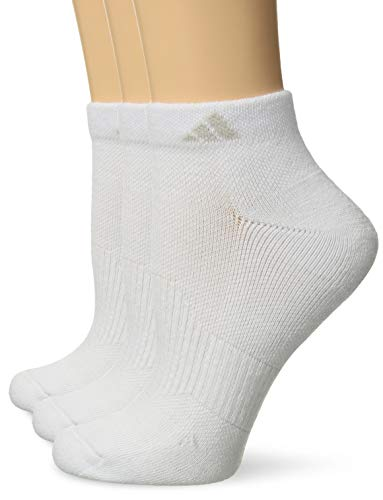 (adidas Women's Cushioned Low Cut Socks (3-Pack), White/White, One Size)