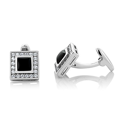2.60 Ct 925 Sterling Silver Black Onyx & White Sapphire