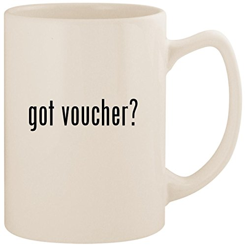 got voucher? - White 14oz Ceramic Statesman Coffee Mug Cup