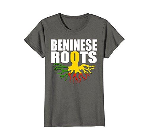 Womens Storecastle Beninese Roots Benin Pride Gift Flag T-Shirt Medium Asphalt