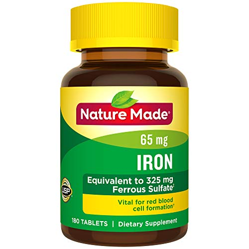 Nature Made Iron Tablets, 65 mg, 180 Count