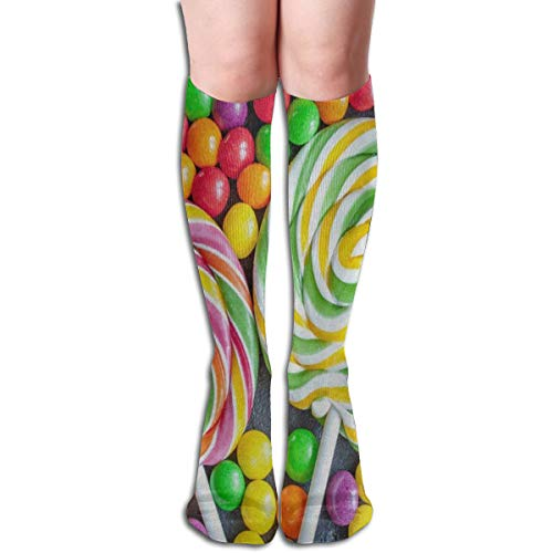 Coconice Socks Funny Candy Lollipop Designer Womens Stocking Decor Sock Clearance for Girls -