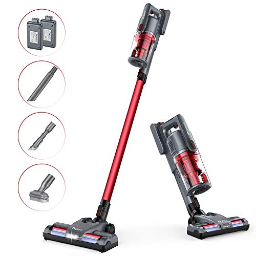Cordless Vacuum Cleaner PRYMAX VC198 Stick Vacuum. 150W Powerful Cleaning. with 2 Rechargeable Lithium-Batteries. 70 Minutes Working time. for Car/Pet Hair/Carpet/Floor