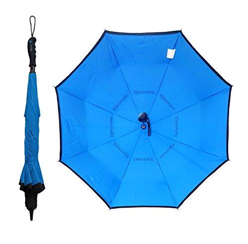 - BETTERBRELLA Reverse Open Wind-Proof Umbrella, Blue