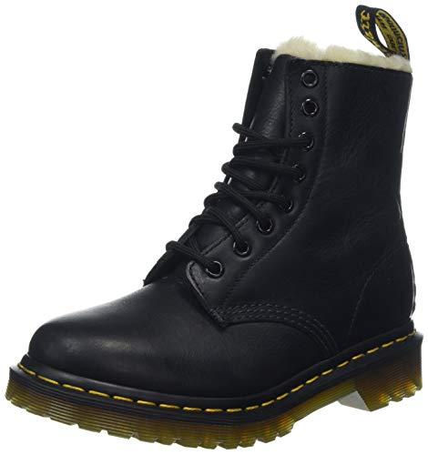 Dr. Martens Women's Serena Burnished Wyoming Leather Fashion Boot, Black, 8 Medium UK (10 -