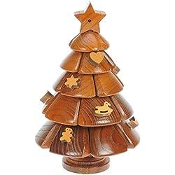 Xmas Tree 3D puzzle di legno: il divertimento di Natale della novità e regalo di compleanno: Idea regalo Rompicapo: Puzzle: Ornamento: Regali per bambini, uomini, adulti: Dimensioni 20 centimetri x 13 centimetri