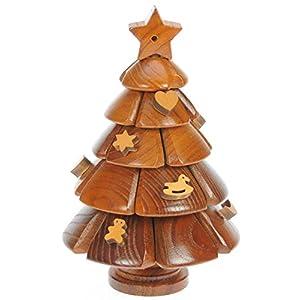 Albero Di Natale Puzzle Legno 3d Rompicapo Adulti Bambini Idea Del Regalo Di Natale O Di Compleanno Dimensioni 20 X 13 Cm