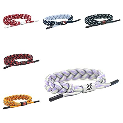 WerNerk Naruto Cosplay Bracelet, Anime Naruto Shippuden Braided Wristband with Symbol for Kids Teens Adults and Anime Fans( Hyuga Hinata): Toys & Games